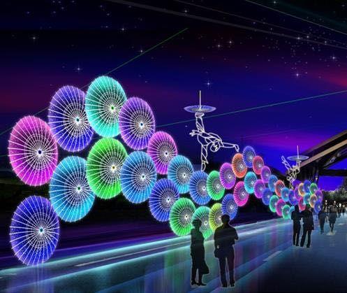 产品库 商业服务 设计,加工 >> 灯光秀出售五颜六色宝石般展览效果图片
