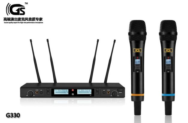 G330 一拖二无线话筒真分集远距离拾音 舞台演出无线麦克风