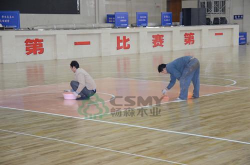 镇坪标准的篮球木地板防止视觉疲劳
