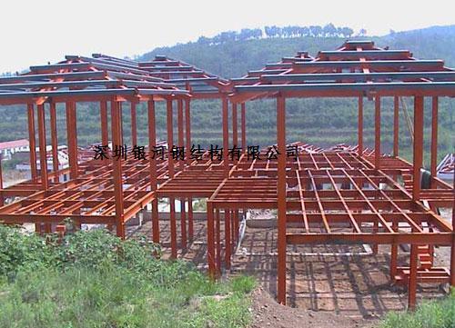 深圳钢结构别墅框架安装,轻钢结构别墅,银河专业承包