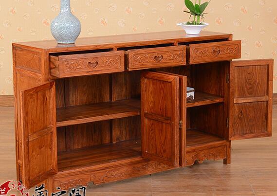 餐边柜定制 实木定做 中式家具定做高清图片 高清大图图片