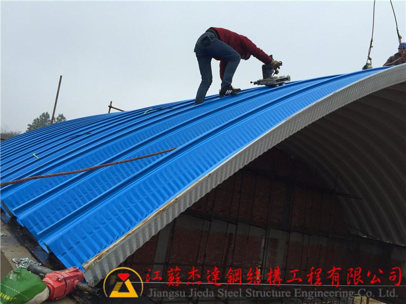 罩棚屋面米业产品图片高清大图,本图片由江苏杰达钢结构工程有限公司