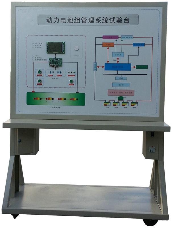 动力电池组管理系统试验台(电池管理系统(BMS)实训台) 型号:QA-XNY-5014 采用济南奇安牌 一、功能特点 1.动力电池组管理系统试验台(电池管理系统(BMS)实训台)采用纯电动汽车电池组管理控制系统实物为基础,可动态监测每个单节电池电压、动态估计电池组容量、动态监测电池组温度、动态显示所有电池组信息、按键实时处理、动态监测总回路电流、动态报警指示、充电实时控制等。 2.