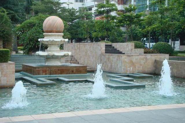 园林小品喷泉su