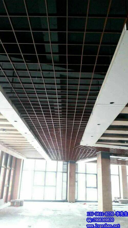 铝格栅吊顶 木纹铝格栅 甘肃铝格栅产品大图