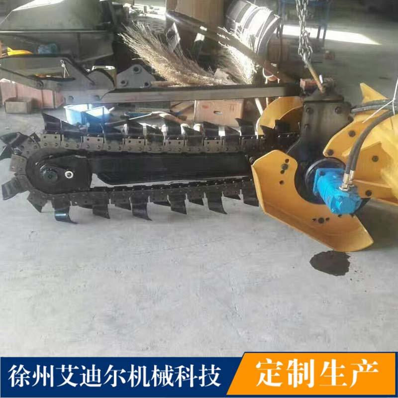 挖掘机配液压开沟机高清图片 高清大图