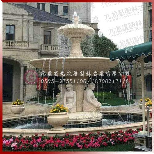 欧式人物水钵雕塑高清大图