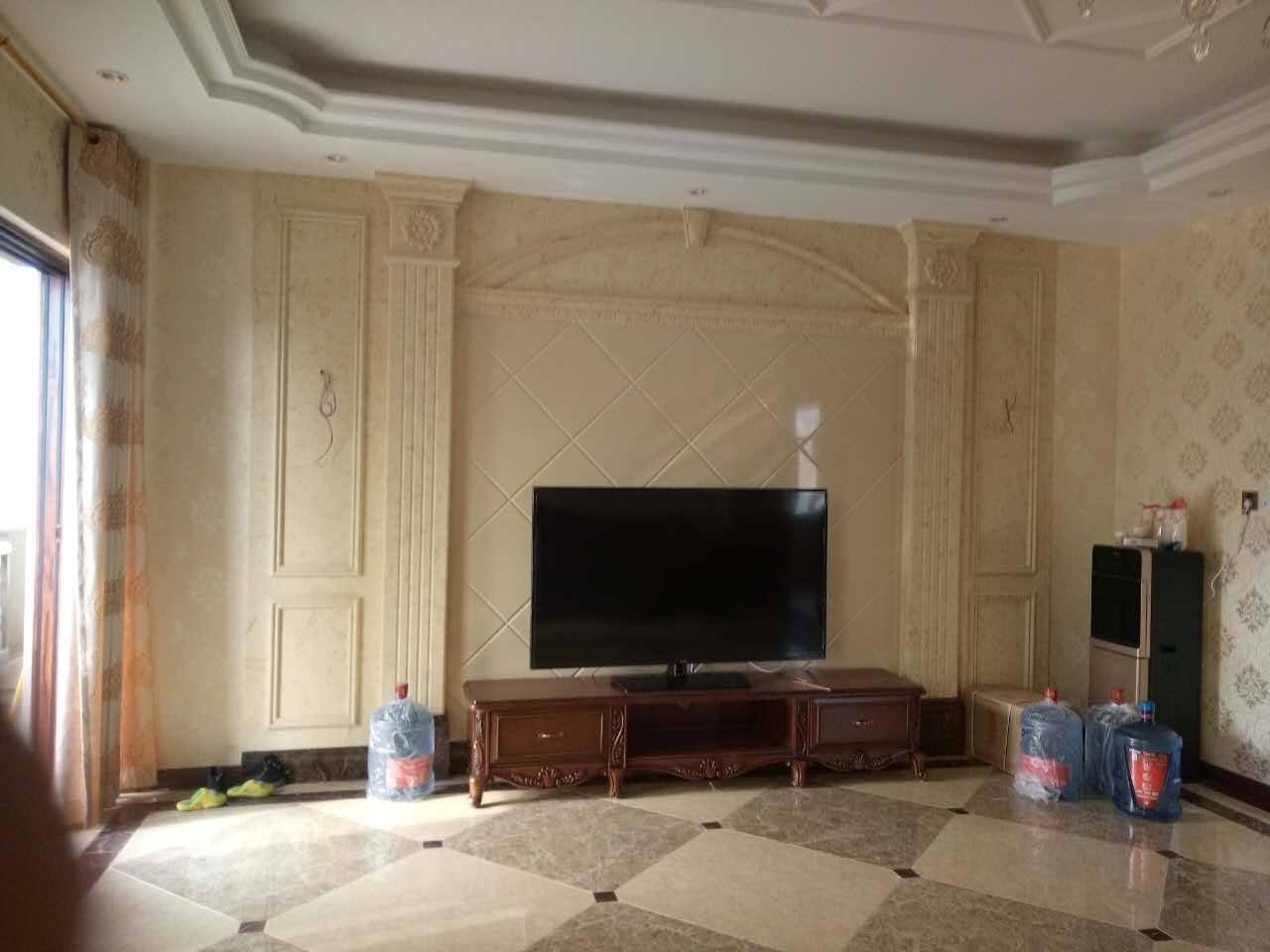 [供应]家装客厅电视墙通体石材罗马柱厂家直销价格