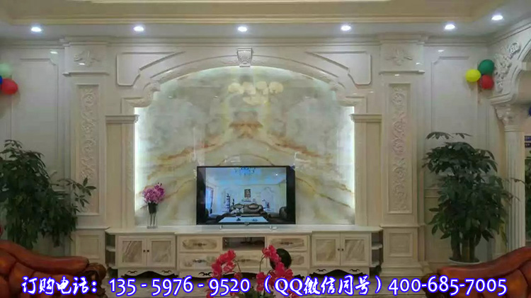 [供应]欧式风格石材罗马柱电视背景墙厂家批发直销价格