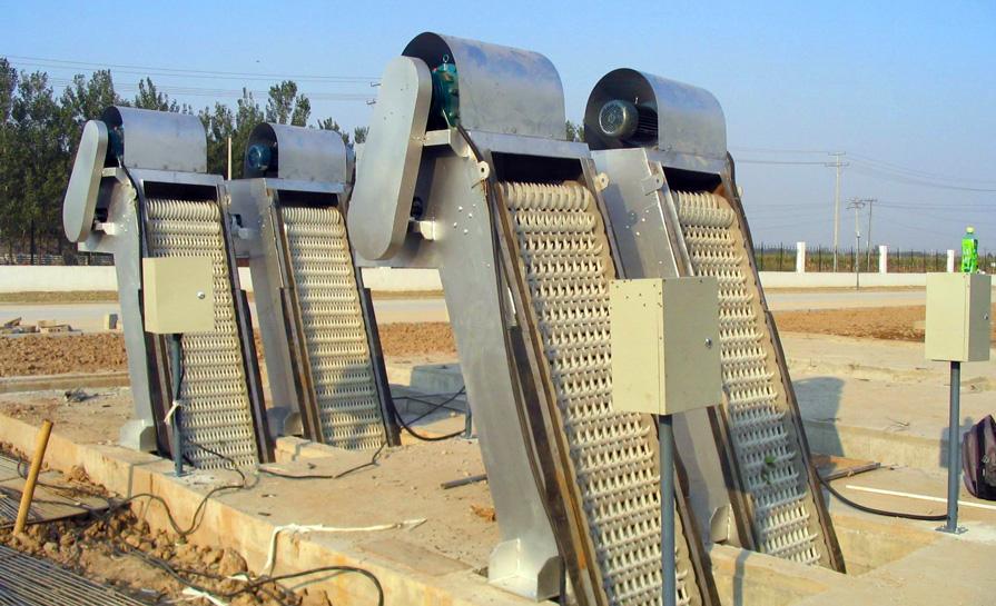 机械格栅产品图片高清大图,本图片由山东海能环境技术有限公司提供.