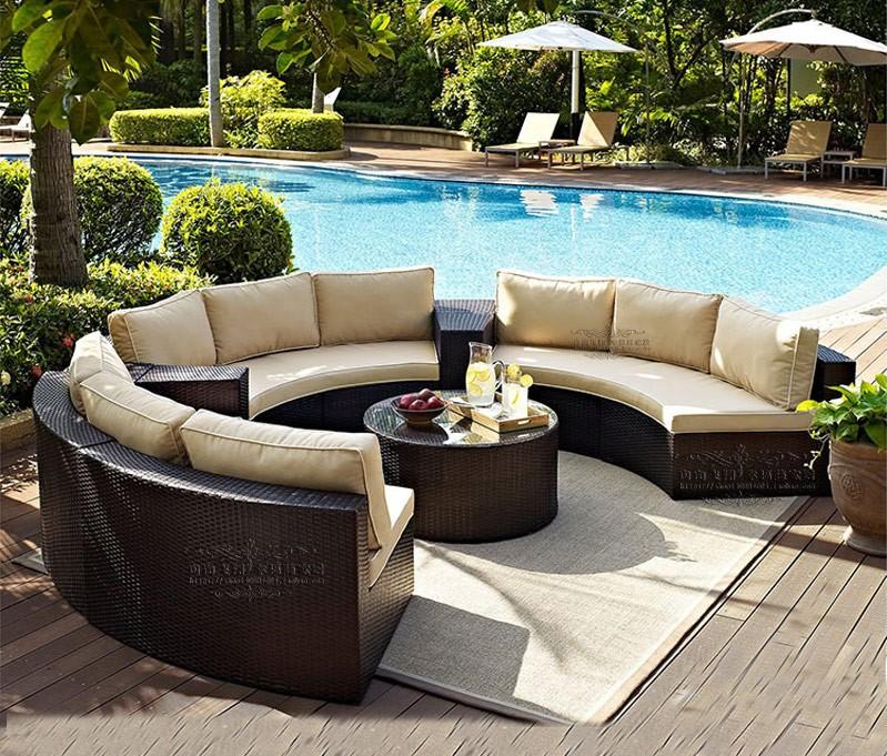 户外沙发休闲半圆沙发别墅花园欧式沙发组合产品大图