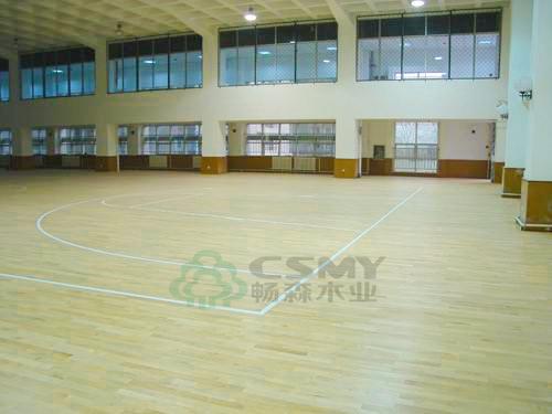 嵊州篮球木地板畅森木业安装产品大图