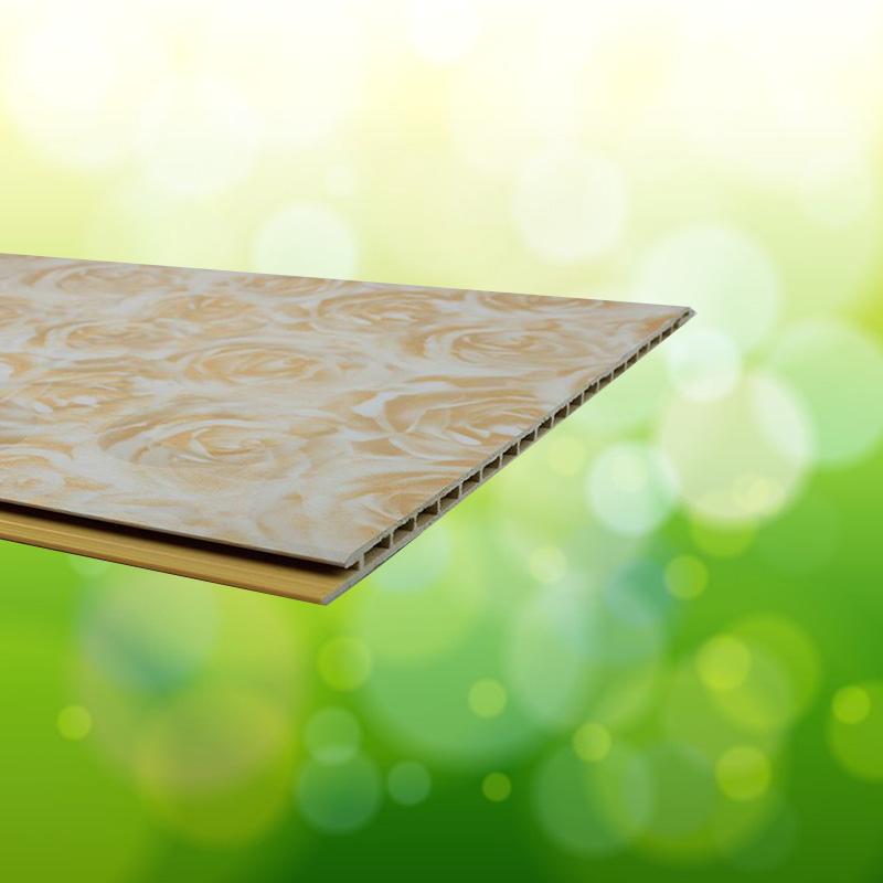 快装板竹原纤维集成墙板木塑护墙板包覆平面板防潮