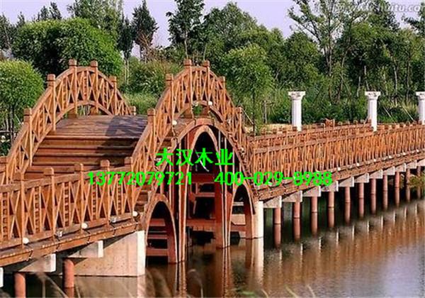陕西防腐木木桥,户外小木桥制作,景区水车施工高清图片 高清大图