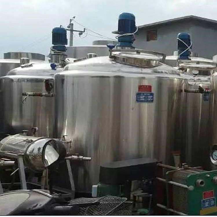 二手不锈钢搅拌罐转让二手2吨3吨5吨不锈钢搅拌罐