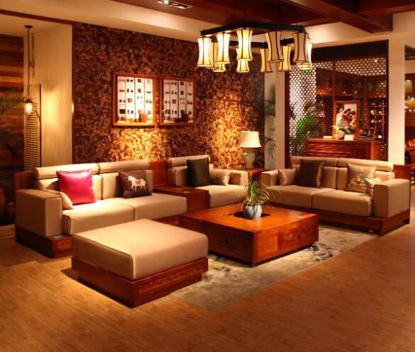现代水曲柳实木沙发产品图片高清大图