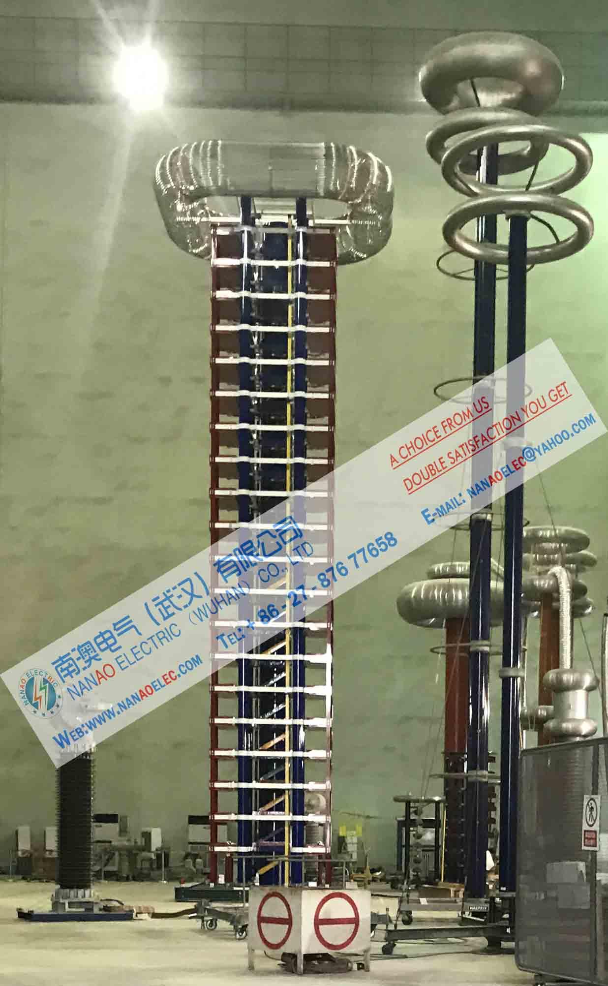 南澳电气专业生产NAIVG全自动雷电脉冲冲击电压发生器试验装置产品大图