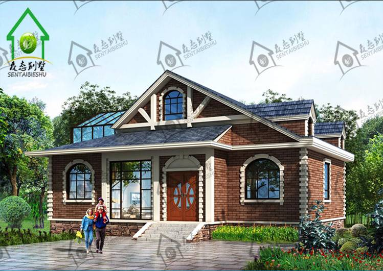 家里想盖房子,不喜欢农村老式房子,冬冷夏热,.自设计图片
